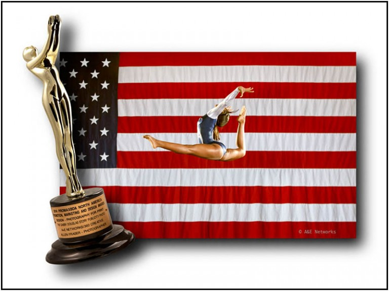 2014 PromaxBDA - Gold Award Winner - Photography for Print - THE GABBY DOUGLAS STORY - A&E Networks