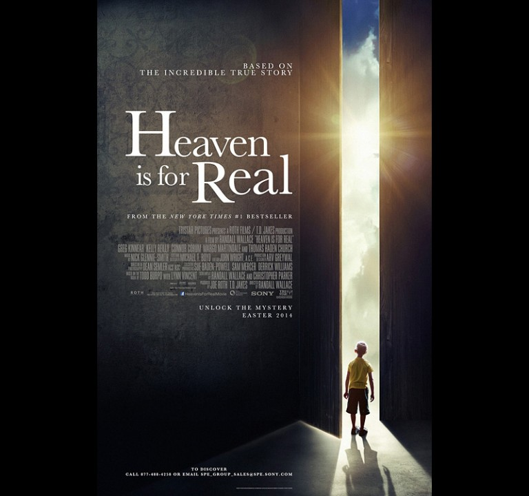 HEAVEN IS FOR REAL - Sony / Screen Gems - Theatrical Poster