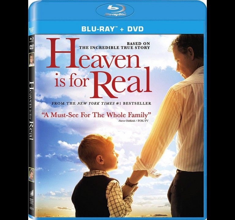 HEAVEN IS FOR REAL - Sony / Screen Gems - DVD Cover